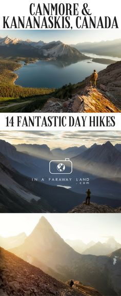 14 hikes with breathtaking views around Canmore and Kananaskis Country - the lesser known part of the Canadian Rockies.