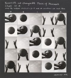Dóra Maurer, Reversible and Changeable Phases of Movement, Study No. MoMA, New York, NY Sequence Photography, Conceptual Photography, Art Photography, Photography Exhibition, Artistic Photography, Tanz Poster, Behance, Photomontage, Doraemon