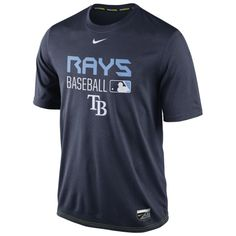 cheaper 1d3d4 72f5a MLB Tampa Bay Rays Nike Authentic Collection Legend Team Issue Dri-FIT T- Shirt
