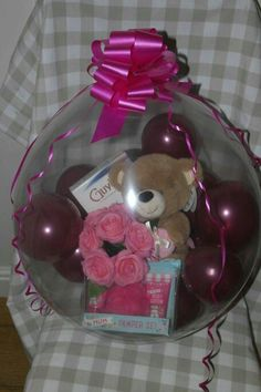 Balloon Inside Balloon, Balloon Gift, Balloon Arrangements, Balloon Decorations, Craft Gifts, Diy Gifts, Stuffed Balloons, Be My Valentine, Bubble Gum
