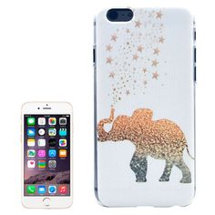 Elephant Pattern Transparent Frame Colored Drawing Plastic Case for iPhone 6 Plus & 6S Plus