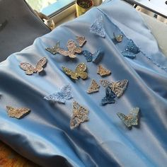 I'm in love with this butterflies and new perfect fabric for Cinderella corset You can find them in my #etsy shop (working link in bio) https://www.etsy.com/shop/AnastasiaLionsART #etsyhandmade #handmade #etsyseller #etsyshop #cinderella #cinderella2015 #cinderella2015cosplay #disneycosplay #disneyrussia #embroidery #bluedress #butterfly #butterflies #accessories