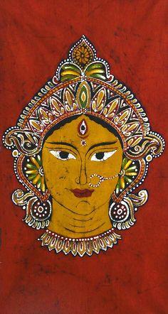 Goddess Durga in Batik