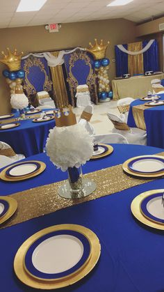 Resourceful accounted for quinceanera party center pieces You might consider - - - Royalty Baby Shower, Royal Baby Shower Theme, Boy Baby Shower Themes, Baby Shower Gender Reveal, Baby Boy Shower, Prince Themed Baby Shower, Prince Baby Showers, Babyshower Themes For Boys, Royal Theme