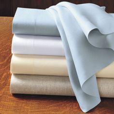 Italian Linen Plain-Sewn Sheets