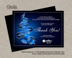 holiday business appreciation christmas thank you postcard
