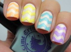 Tales About Nails - Lime Crime Chevrons using the Baking Paper Method Tutorial
