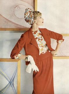 Jessica Ford, photo by Henry Clarke, Vogue, February 1, 1958 | flickr skorver1
