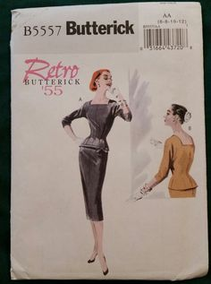 Check out this item in my Etsy shop https://www.etsy.com/listing/266281214/pattern-butterick-b5557-vintage-womens