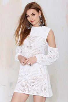 Nightwalker The Renaissance Crochet Dress - Dresses
