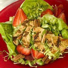 Salade met gegrilde kip en fruit @ allrecipes.nl