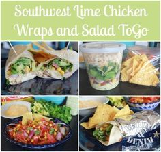 lime chicken wraps