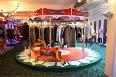 OASIS AUTUMN WINTER PRESS EVENT 2014 ALL THE FUN OF THE FAIR SET DESIGN BY PETRA STORRS