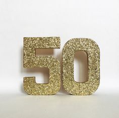 Silver Gold Glitter 50th Birthday Anniversary by ZoeyElisa