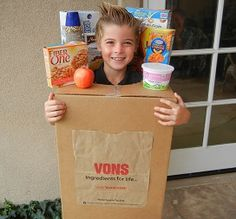 Bag of groceries costume recycle and re use items you for Halloween decorations you can make at home