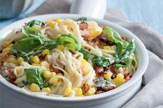 Špagety 20x jinak | Apetitonline.cz Pesto, Dinner Recipes, Menu, Healthy Recipes, Chicken, Ethnic Recipes, Yum Yum, Diet, Lemon