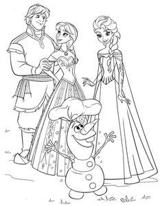 Voir Le Dessin Coloriages La Reine Des Neiges Imprimer Olaf