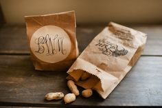 monogrammed peanut favors | Spindle Photography