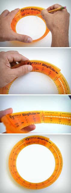 Simple in its design, the Ring Ruler allows you to make circles by deciding exactly what diameter you need. Its design enables you to make perfect circles (although irrespective of a central point) and the diameter can be increased (at increments of 0.06 inches) or decreased by just snapping the ruler at the desired point. BUY NOW!