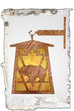 "Meyda 7.5""W Lone Grizzly Bear Hanging Wall Sconce"