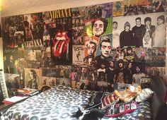 Stylish 38 Enchanting Punk Rock Bedroom Design Ideas That Looks So Elegant Punk Rock Bedroom, Emo Bedroom, Punk Room, Grunge Bedroom, Music Bedroom, Tumblr Bedroom, Room Ideas Bedroom, Bedroom Decor, Cute Room Decor
