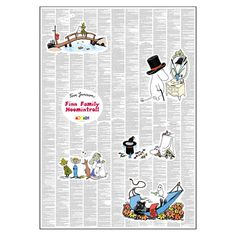 Spineless Classics - Finn Family Moomintroll - 50x70cm