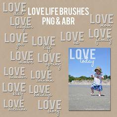 Freebie vendredi: l'amour cette brosse et superposition de photos Photoshop