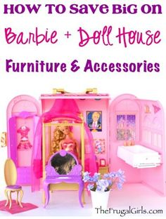 Tips and DIY Tricks to Save Money on Barbies and Doll House Furniture from TheFrugalGirls.com #barbie #dollhouse #thefrugalgirls