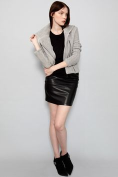 Vegan, eco-friendly moto jacket by Amour Vert at Shop Ethica. #madeinusa