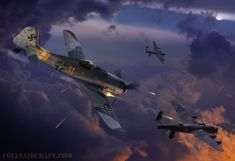 Luftwaffe WWII Focke Wulf FW 190 D 9 'Dora' by Ron Cole Signed | eBay