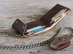 Chain Wallet Wallet Men's Leather Biker Wallet por JooJoobs