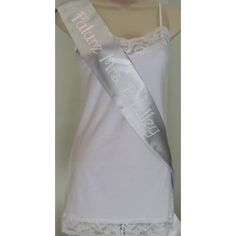 Custom Future Mrs 4 Rhinestone Sash - Silver with Light Rose and Crystal Rhinestones