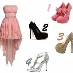 Pink cocktail dress... Choose which shoes
