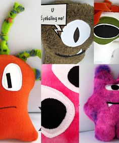 Monster Mash Up Softie sewing pattern by The Sewing Loft | The best sewing patterns for women, girls, toys and more. Go To Patterns & Co.