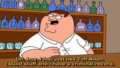 Get your laugh on to these 32 hilarious family guy quotes 🙂. Family Guy Quotes, Tim Allen, 2 Movie, Smoking Weed, Hilarious, Wtf Funny, Illusions, Guys, Feelings