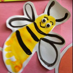 Footprint bumble bees for toddlers