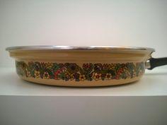 Vintage enamel fry pan frying pan sauté by TheLittleIrishShop,