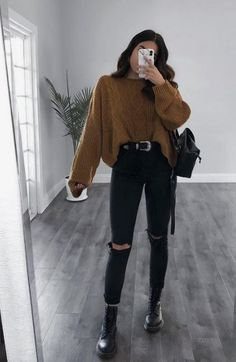 Autmun ootd December 16 2019 at fashion-inspo Cute Casual Outfits, Simple Outfits, Stylish Outfits, Aesthetic Grunge Outfit, Aesthetic Clothes, Winter Fashion Outfits, Fall Outfits, Summer Outfits, Fashion Clothes