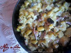 Ricetta patate, funghi e pancetta