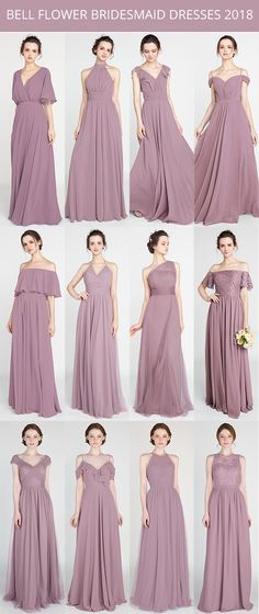 bell flower bridesmaid dresses 2018 trends #bridalparty #bridesmaiddress #bridesmaids #weddingcolors #weddinginspiration