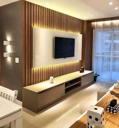 45 Modern Home Entertainment Centers That Will Inspired - Home Design Home Entertainment Centers, Tv Stand Designs, Living Room Tv Unit Designs, House Design, Living Room Design Modern, Tv Wall Design, Tv Room Design, Wall Tv Unit Design, Tv Stand Modern Design
