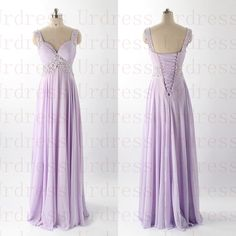 Ruched Long Chiffon Bridesmaid Dress,Spaghetti Straps Long Party Dress,Chiffon Evening Dress,Lace Up Long Formal Dresses Gown