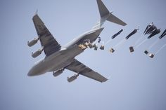 C-17 airdrop Bathroom Photos, Us Air Force, Military Aircraft, Soldiers, Airplane, Planes, Fighter Jets, Prepping, Drop
