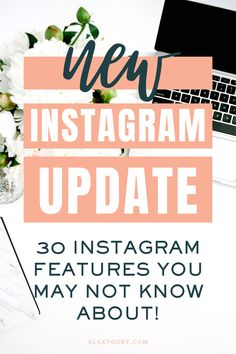 Instagram is constantly changing and adding new features to the app. In this blog Instagram Expert Alex Tooby shares 30 features you may not know existed! #instagramtips #instagramideas #instagramstoryideas Online Marketing, Social Media Marketing, Business Marketing, Content Marketing, Affiliate Marketing, Business Tips, More Followers On Instagram, Get More Followers, Instagram Story Ideas