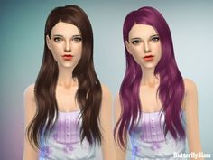 B-fly hair 147 (Pay) at Butterfly Sims via Sims 4 Updates