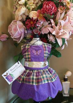 Pretty purple dog dress size x small by OsuzyQsLapdogDesigns