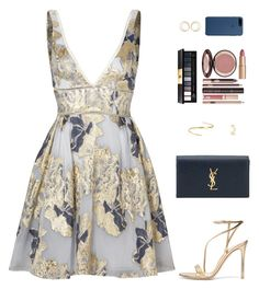 """""""Sin título #4362"""" by mdmsb on Polyvore featuring moda, Notte by Marchesa, Gianvito Rossi, Yves Saint Laurent, Maison Margiela y Charlotte Tilbury"""
