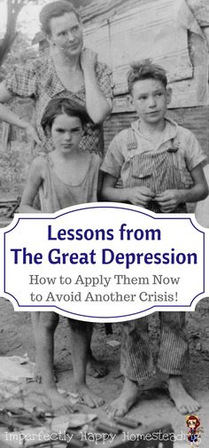 10 Lessons from the Great Depression that We Must Apply TODAY to Avoid Another Crisis.