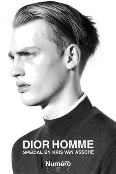 Numero: Dior Homme Special by Kris Van Assche: For its Japanese readership, fashion periodical Numero published a Dior Homme photo special in its Marlon Teixeira, Moustaches, Saint Laurent Paris, Cut Hair Men, Editorial Photography, Fashion Photography, Springtime In Paris, Comme Des Garcons, Men's Grooming