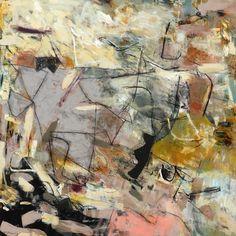 """""""GREY PONY"""" by Krista Harris. 48"""" x 48"""", acrylic & mixed media on canvas"""